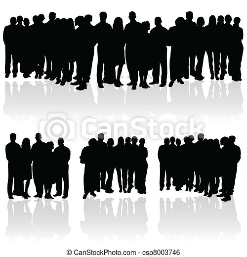 people group silhouette - csp8003746