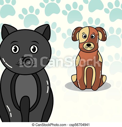 pets dog and cat - csp56704941