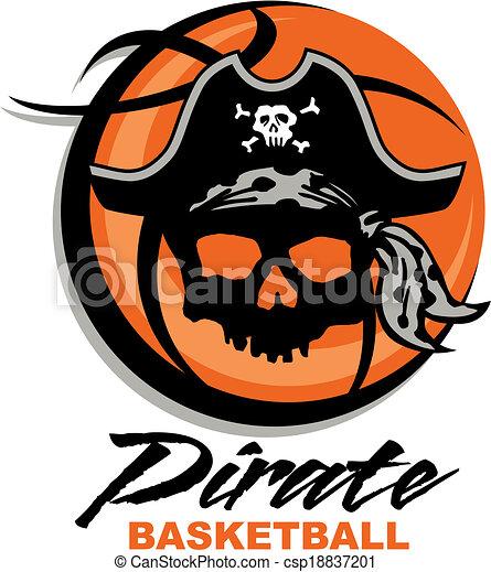 pirate basketball - csp18837201