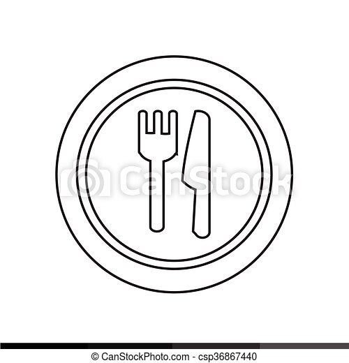 Plate fork and knife icon Illustration design - csp36867440