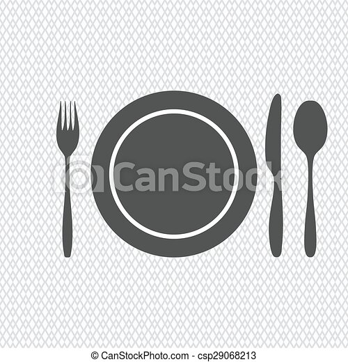 plate, knife, fork, spoon - csp29068213