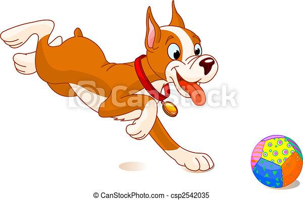 Playful dog - csp2542035