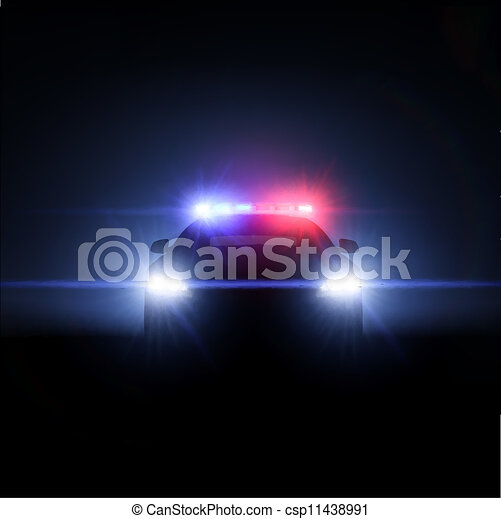 Police car with full array of lights. Vector illustration - csp11438991