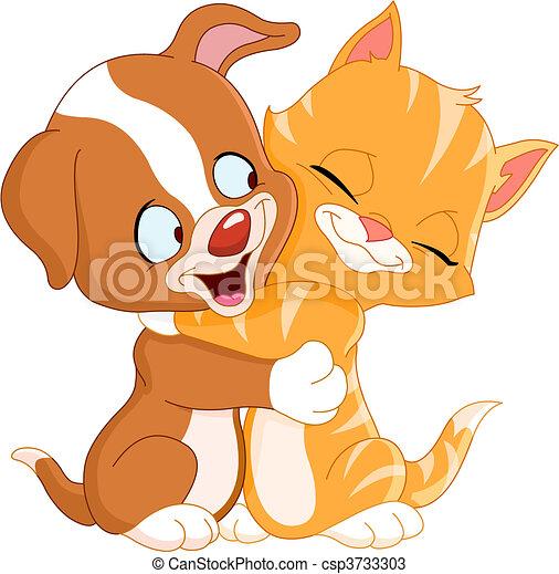 Puppy and kitten - csp3733303