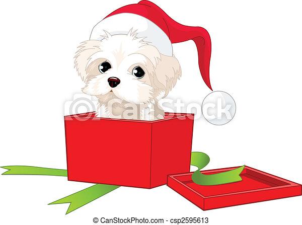 Puppy gift - csp2595613