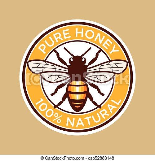 Pure Honey Bee Label - csp52883148