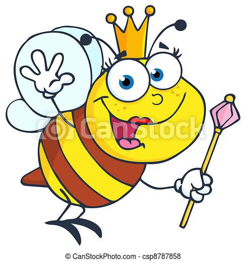Queen Bee Waving For Greeting - csp8787858