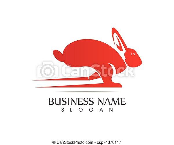 Rabbit Logo template vector icon design - csp74370117