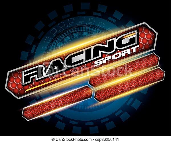 RACING SPORT CONCEPT for LOGO DESIGN VECTOR - csp36250141