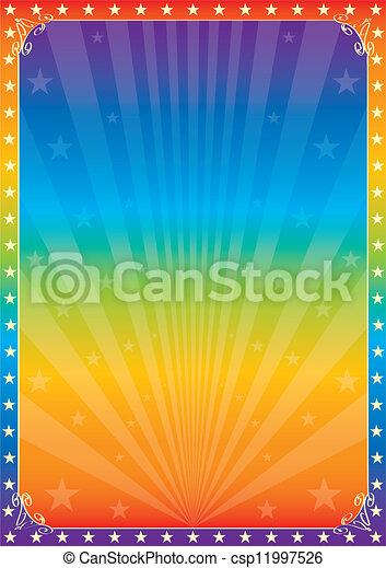 Rainbow star circus - csp11997526