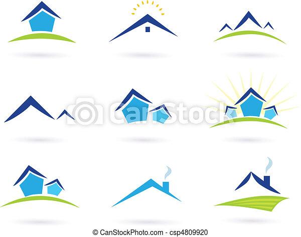 Real Estate / Houses Logo Icons - csp4809920
