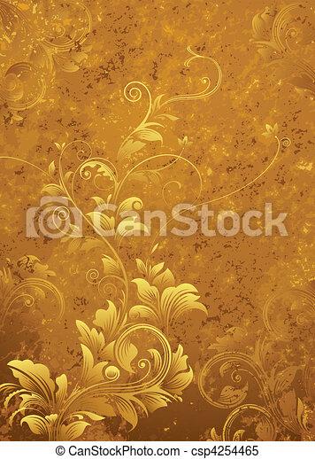 Retro Floral Background - csp4254465