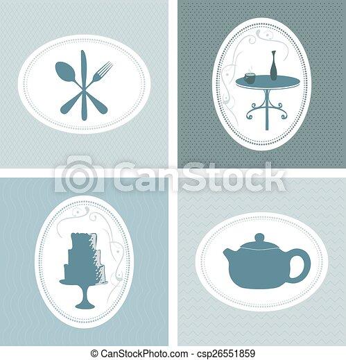 Retro vintage bakery labels, coffee - csp26551859