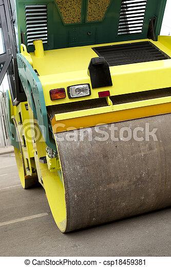 Road roller - csp18459381