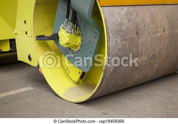 Road roller - csp18459369