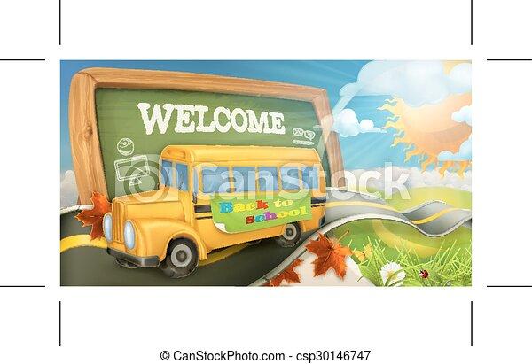 Road to school background - csp30146747