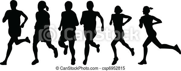 running women - vector - csp6952815