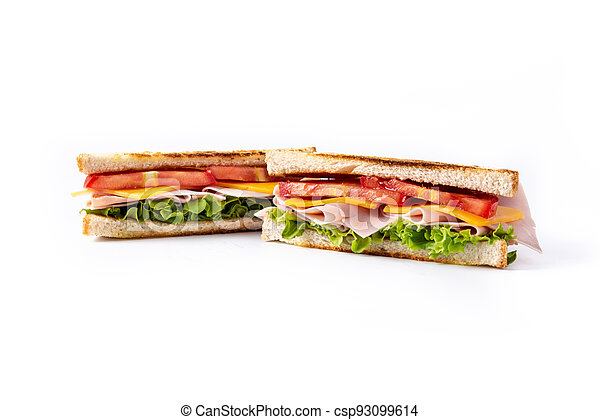 Sandwich with tomato,lettuce,ham and cheese - csp93099614