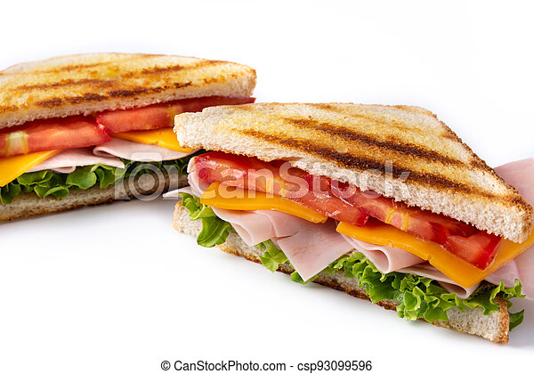Sandwich with tomato,lettuce,ham and cheese - csp93099596