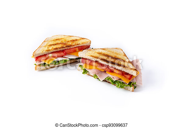Sandwich with tomato,lettuce,ham and cheese - csp93099637