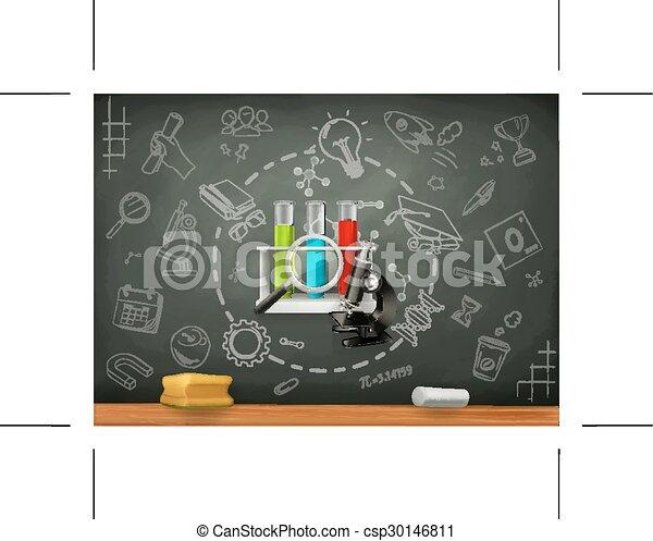 School and science infographics - csp30146811