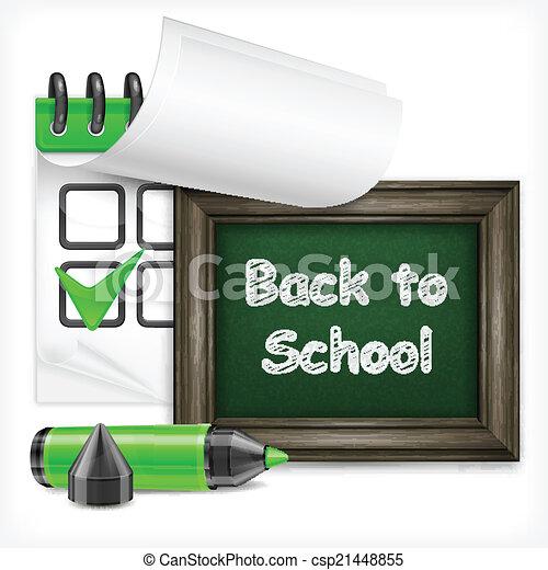 School blackboard and felt-tip pen - csp21448855