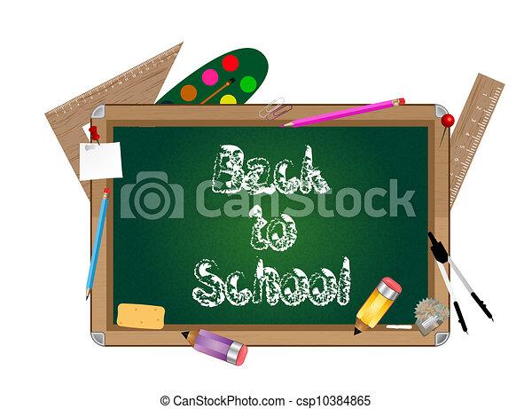 School blackboard - csp10384865