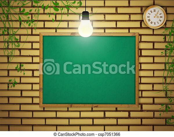 school blackboard - csp7051366