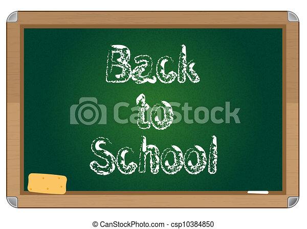 School blackboard - csp10384850