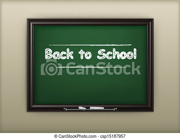 School blackboard - csp15187957