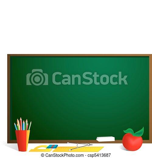 School blackboard - csp5413687