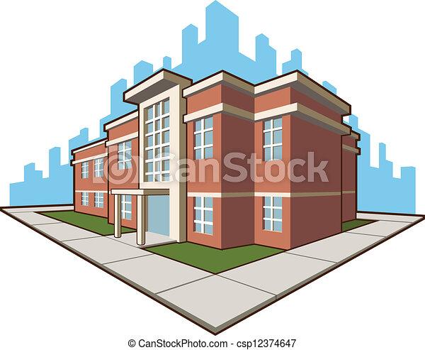 School Building - csp12374647