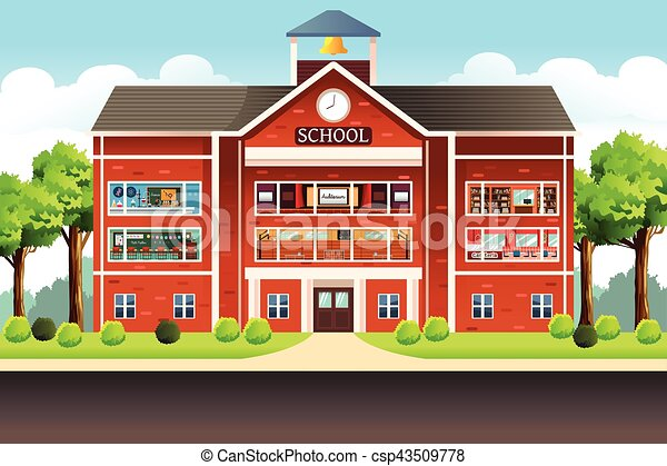 School Building - csp43509778