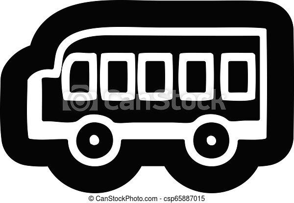 school bus icon - csp65887015