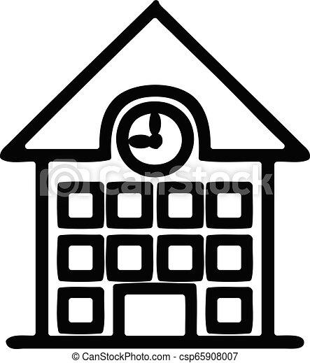 school house icon - csp65908007