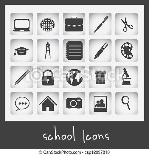 School icons - csp12037810