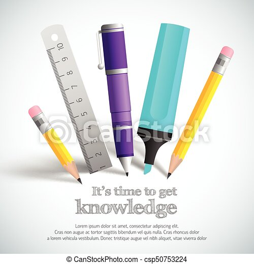School Stationery Composition - csp50753224