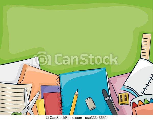 School Supplies Blackboard - csp33348652