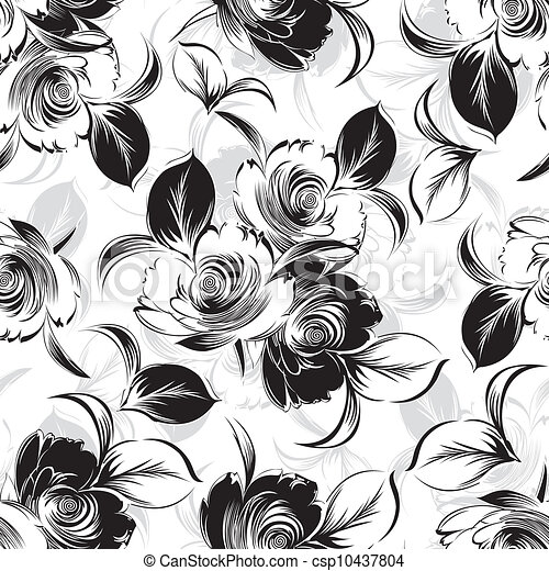 seamless floral background - csp10437804