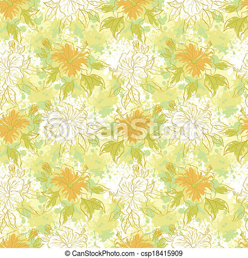 Seamless floral background - csp18415909