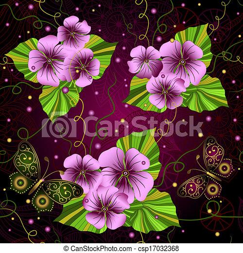 Seamless floral dark pattern - csp17032368