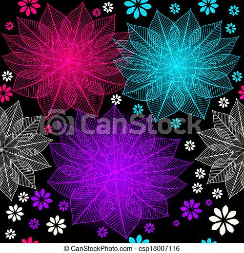 Seamless floral dark pattern - csp18007116