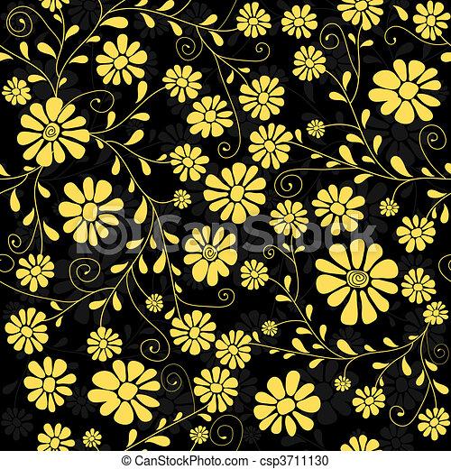 Seamless floral dark pattern - csp3711130