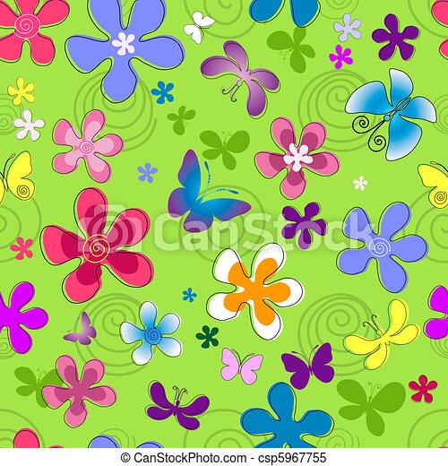 Seamless floral pattern - csp5967755