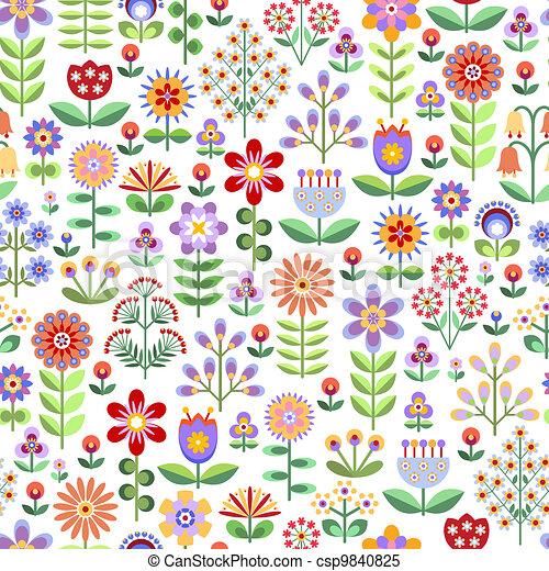 Seamless floral pattern - csp9840825