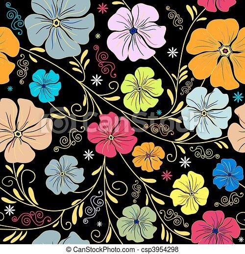 Seamless floral pattern - csp3954298