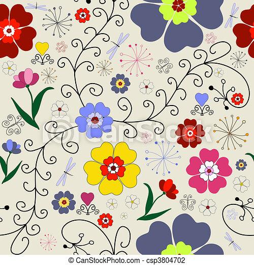 Seamless floral pattern - csp3804702