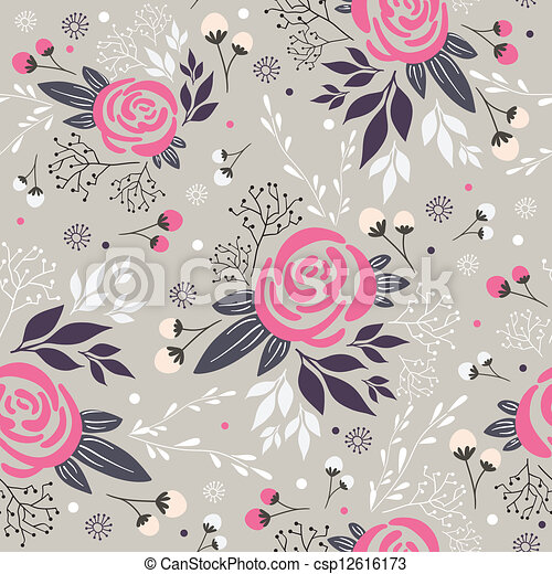 Seamless floral pattern - csp12616173