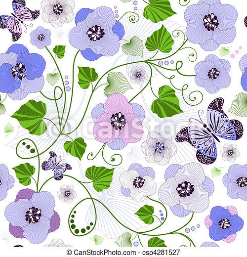 Seamless floral pattern - csp4281527