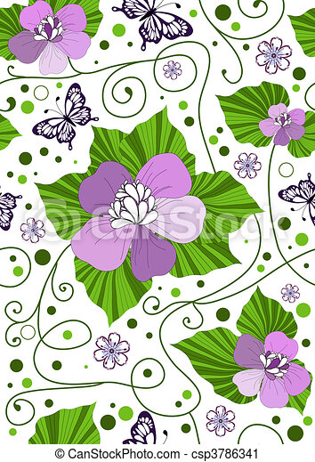 Seamless floral pattern - csp3786341